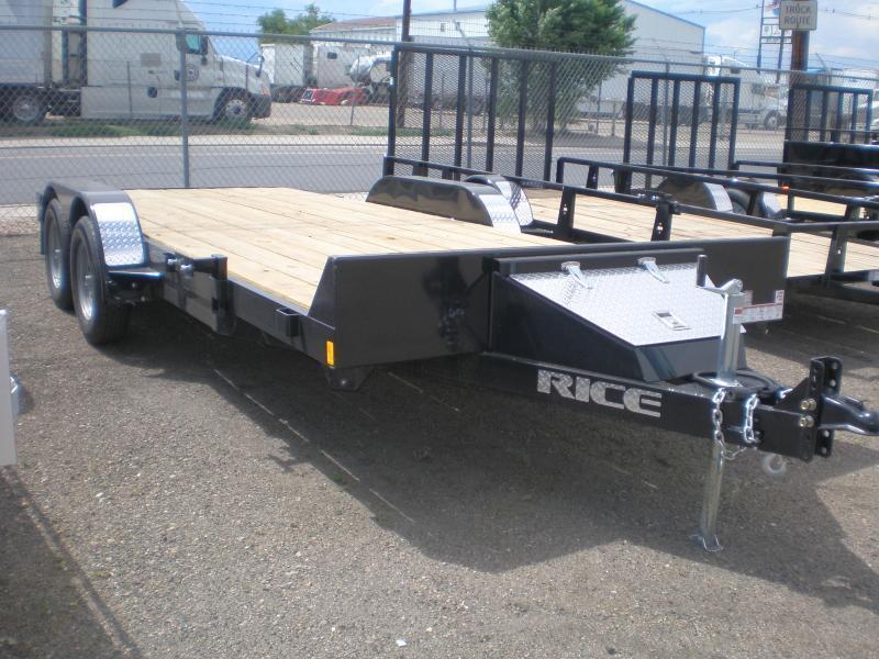 2022 Rice 82x18 Flatbed Car Hauler - No Dovetail