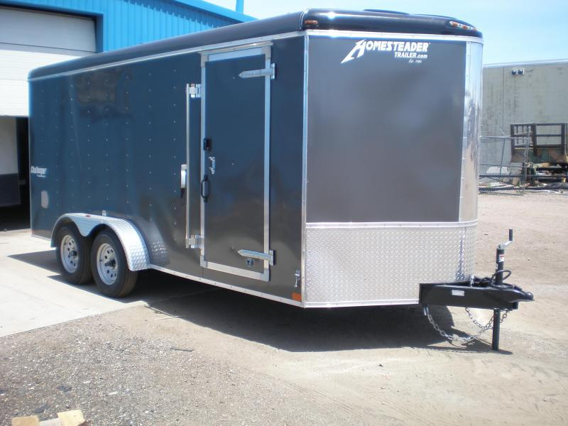 2021 Homesteader 7x16 Enclosed Cargo V Nose Trailer w/Ramp