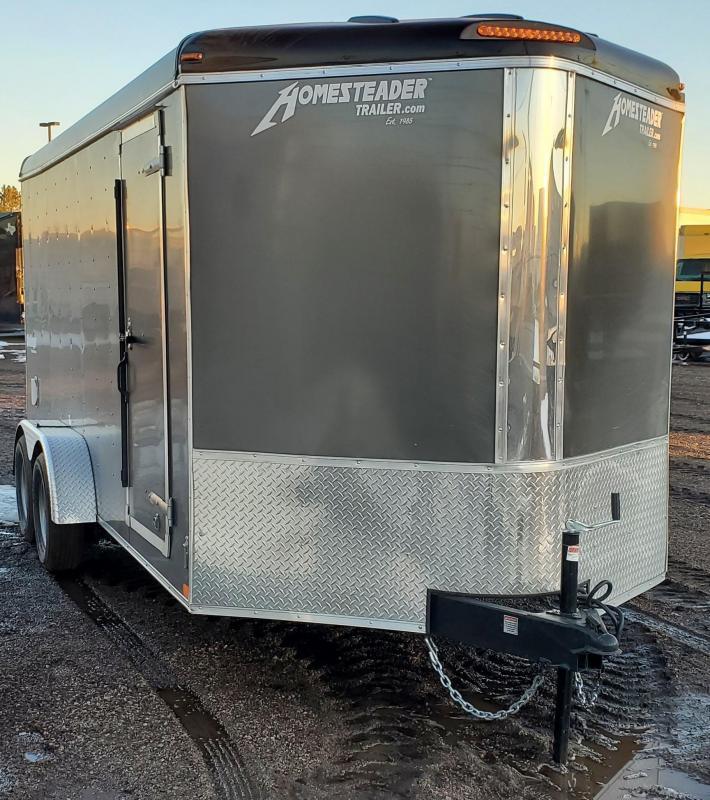 2021 Homesteader 7x16 Enclosed Cargo V Nose Trailer w/Ramp