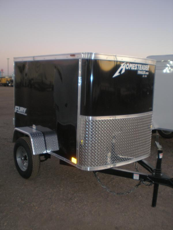 2021 Homesteader 4x8 Enclosed Cargo Trailer - Black