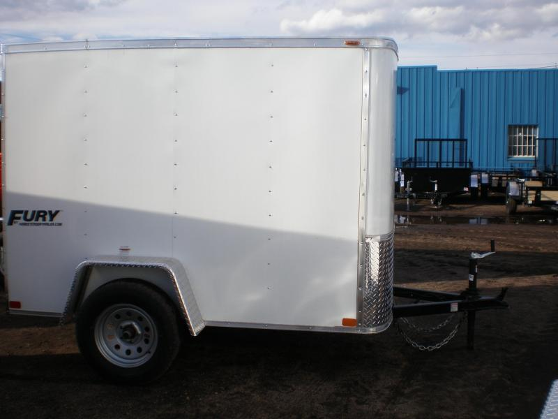 "2021 Homesteader 5x8 ""Fury"" Enclosed Cargo Trailer w/Ladder Racks"