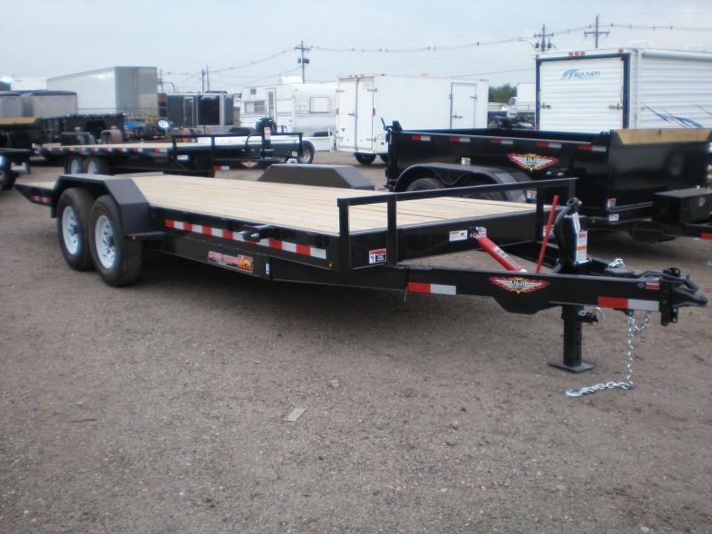 2021 H and H 82X20 10K TILT Flatbed Trailer