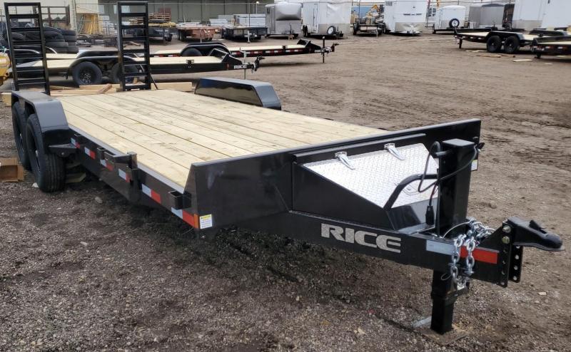 """2021 Rice """"MAGNUM"""" 82x20 Flatbed Equipment Trailer 14K"""