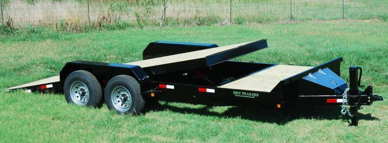 2021 Rice 7x20 Partial Tilt Flatbed Equipment Trailer 14K