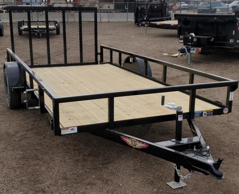 2021 H & H 76x14 Utility Trailer w/Dovetail + Ramp Gate