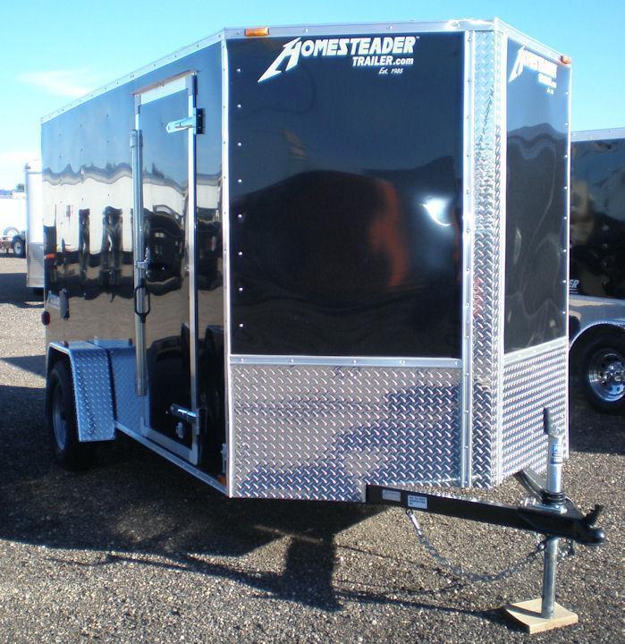 """2022 Homesteader 7x12 Enclosed Cargo Trailer - V Nose """"OHV"""" Pkg"""