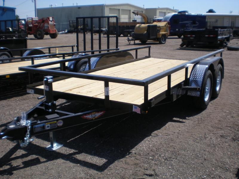 20 H & H 82x14 Tandem Axle Utility Trailer 10K - No Ramps