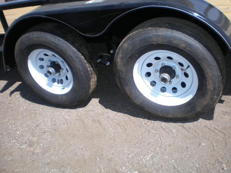 20 H & H 82x14 Tandem Axle Utility Trailer 10K - No Ramps