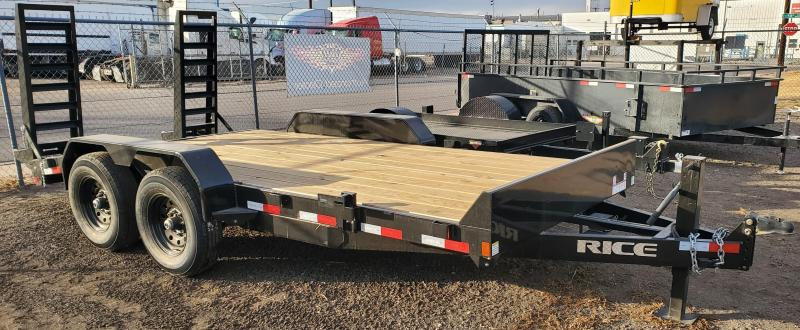 2020 Rice 82x16 Flatbed Equipment Trailer 14K