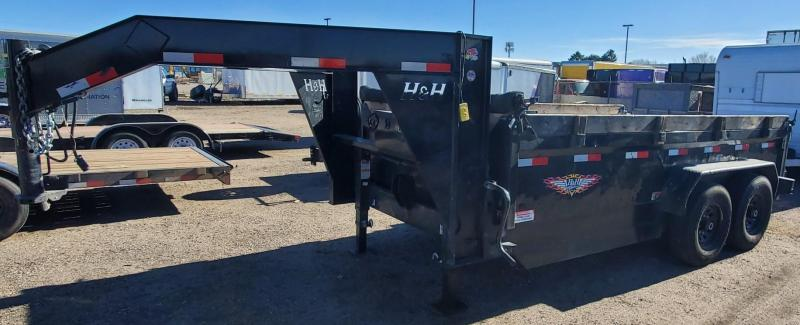 2019 H and H Trailer H8314DBW-GN-140 Dump Trailer