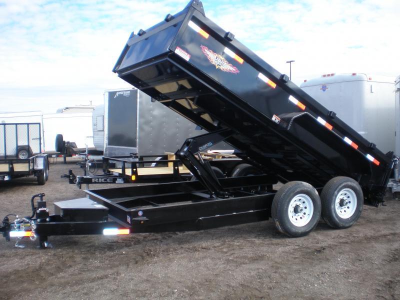20210 H & H 83x14' Dump Trailer 14K w/ Tarp 7GA Floor