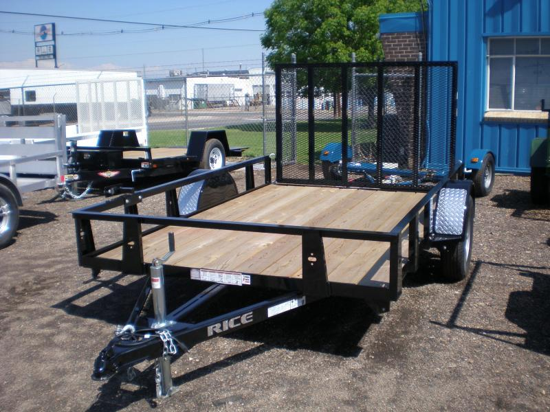 2020 Rice 76X10 Utility Trailer w/4' Ramp Gate