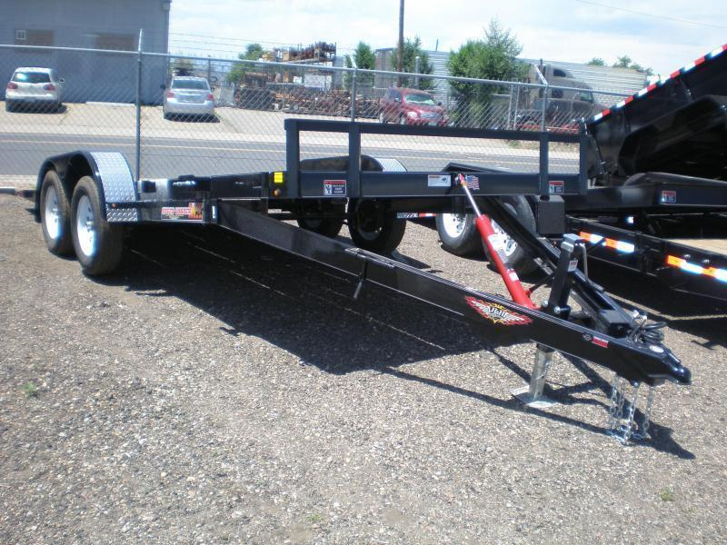 2021 H and H Trailer 82X18 ELECTRIC TILT Flatbed Trailer
