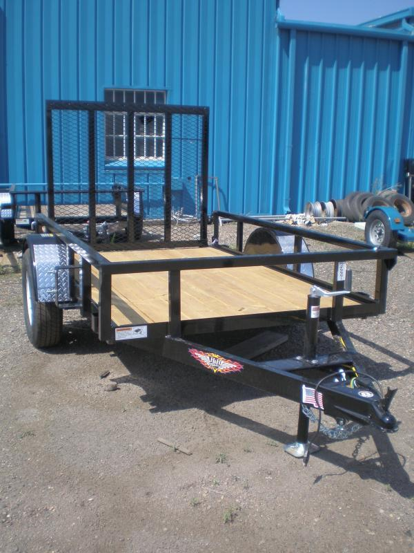 2021 H & H 5X8 Utility Trailer w/4' Ramp Gate
