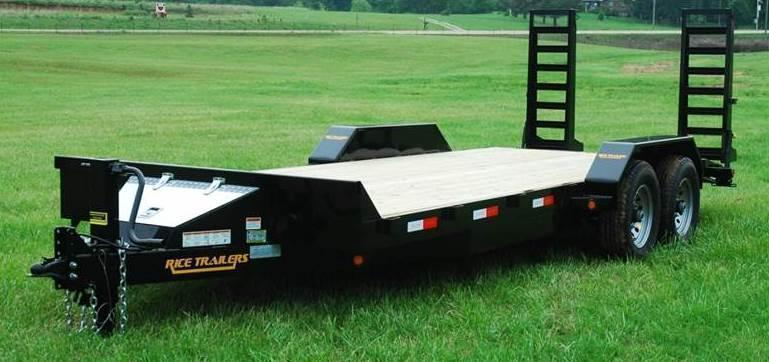 2021 Rice 82x20 Flatbed Equipment Trailer 14K