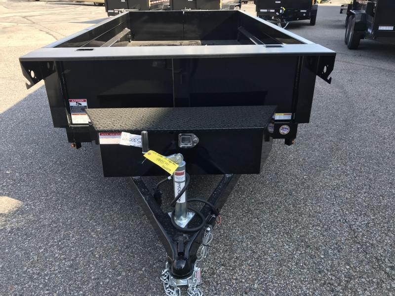 """2021 Sure-Trac 62""""x10 Low Profile Homeowner (ST6210D-B-070) Dump Trailer"""