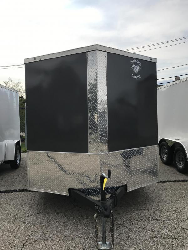 2021 Diamond Cargo 7 --12 V Nose Single Axle Enclosed Cargo Trailer