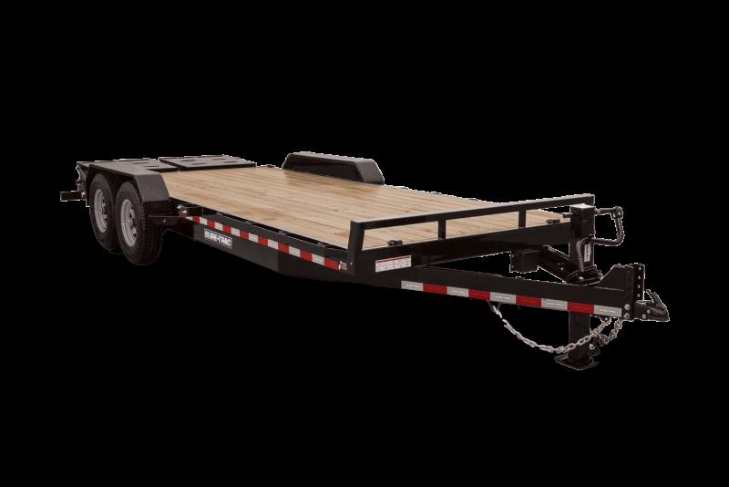 2021 Sure-Trac ST82173URET-B-140 Equipment Trailer
