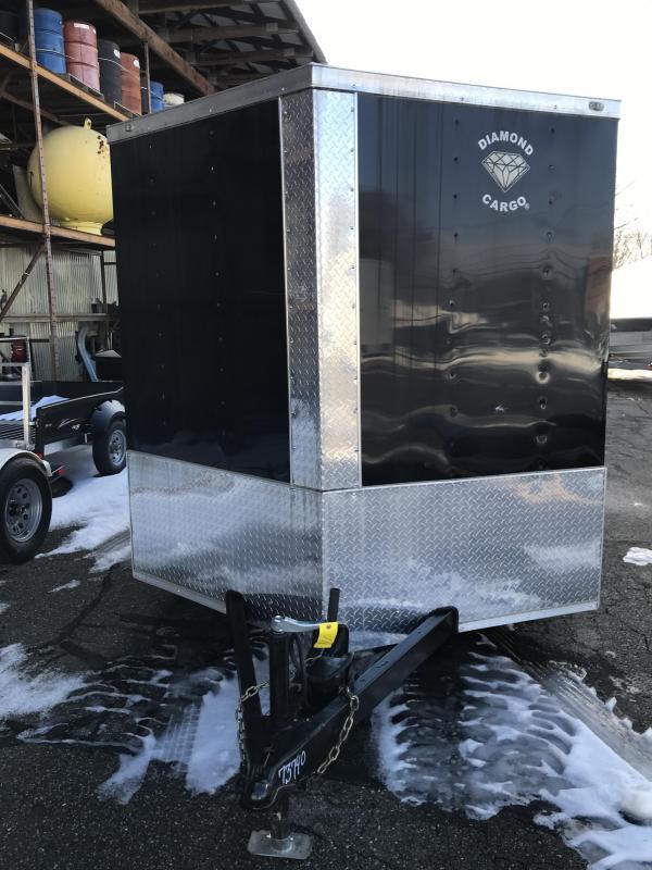 2021 Diamond Cargo 7 Ã--12 V Nose Single Axle Enclosed Cargo Trailer
