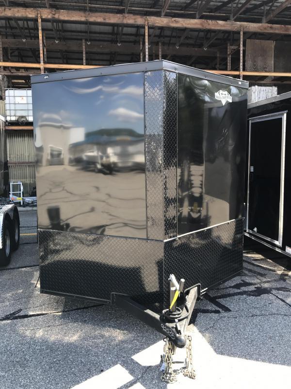 2022 Diamond Cargo 7 X12 V Nose Single Axle Enclosed Cargo Trailer