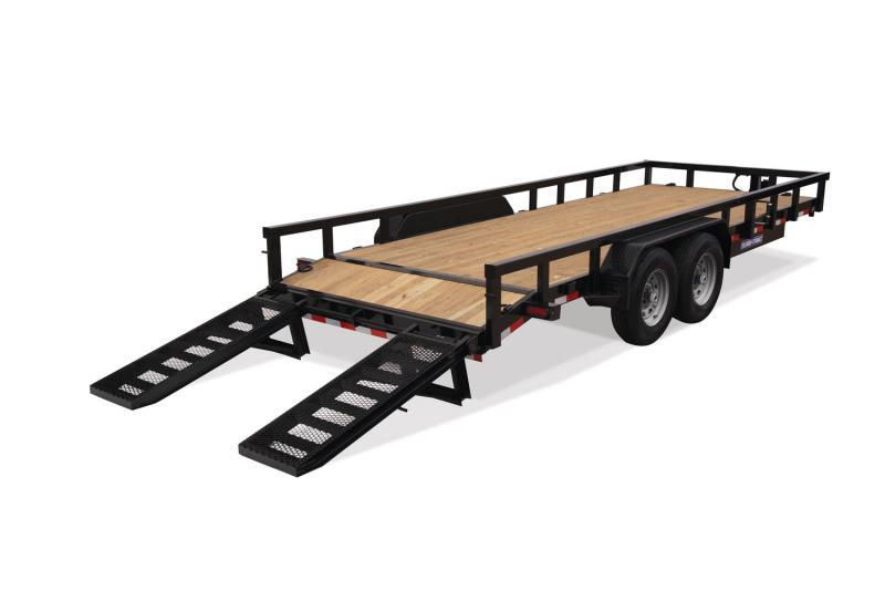 2020 Sure-Trac ST8218HDET-B-140 Equipment Trailer
