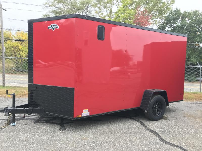 2021 Diamond Cargo 7 x 12 V Nose Single Axle Enclosed Cargo Trailer