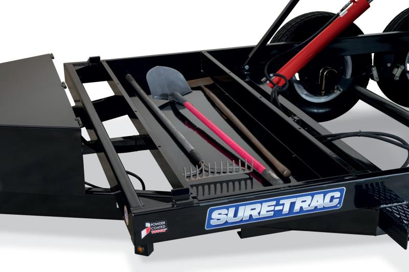 SURETRAC 7X14 14K SINGLE RAM DUMP TRAILER