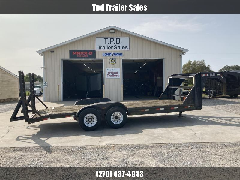 "Used 2002 Load Trail 83""X20' Gooseneck Equipment Trailer"