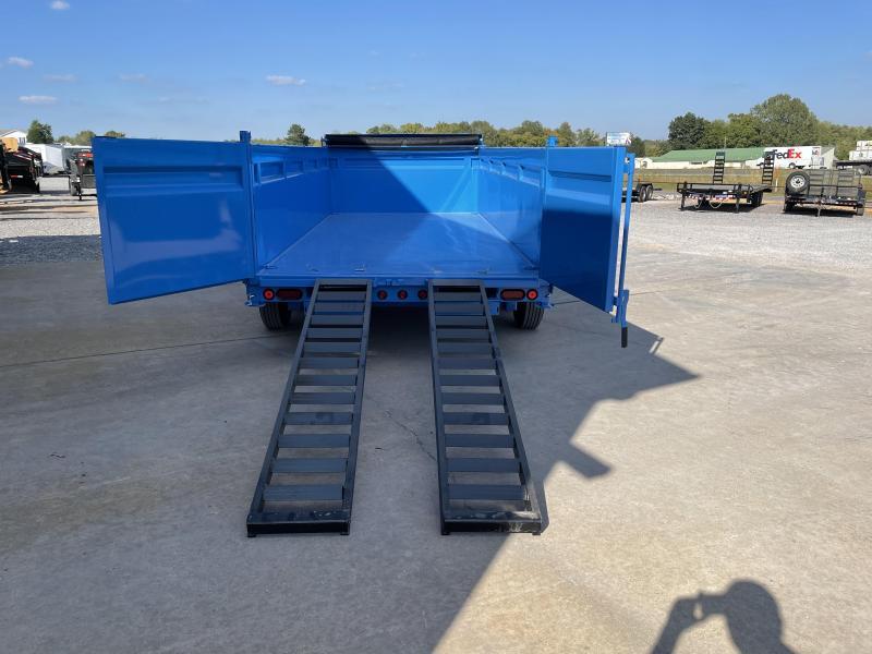 "2022 Load Trail 83""x16' 20k Gooseneck Dump Trailer Hyd Jacks"