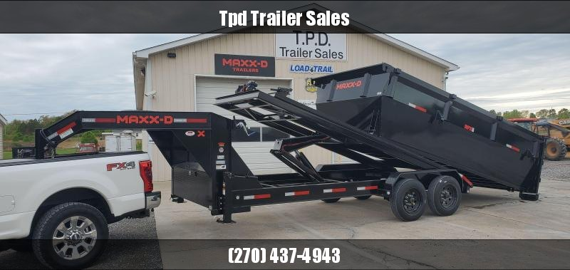 "2021 MAXXD 83""x16' 19.2k Gooseneck Roll-Off Dump Trailer"