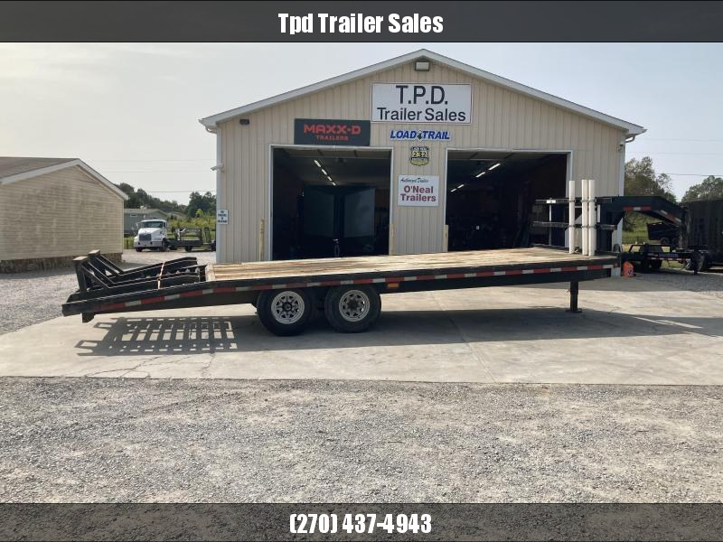 "Used 2006 Albright Trailer 102""X25' Gooseneck Equipment Trailer"