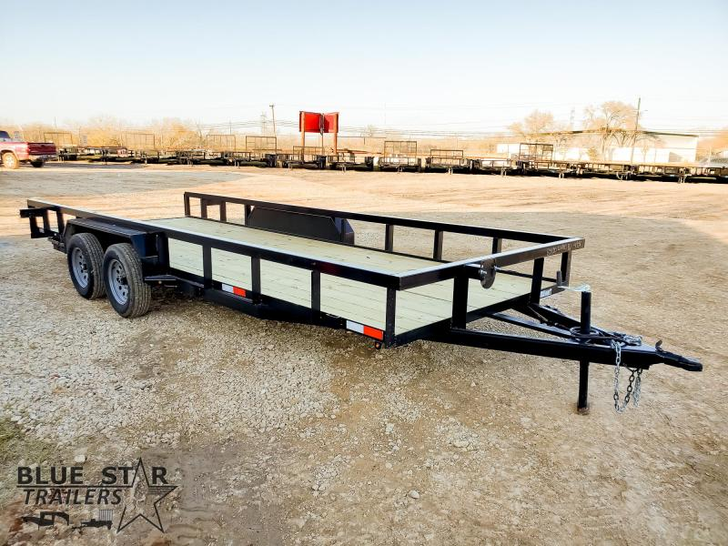 83 X 20 Tandem Axle Utility Trailer w/ Brakes & Ramps