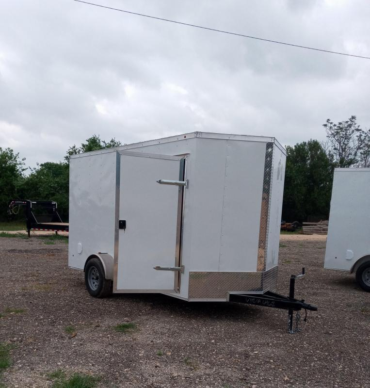 6X12 Single Axle Enclosed Cargo Trailer With Electric Brakes