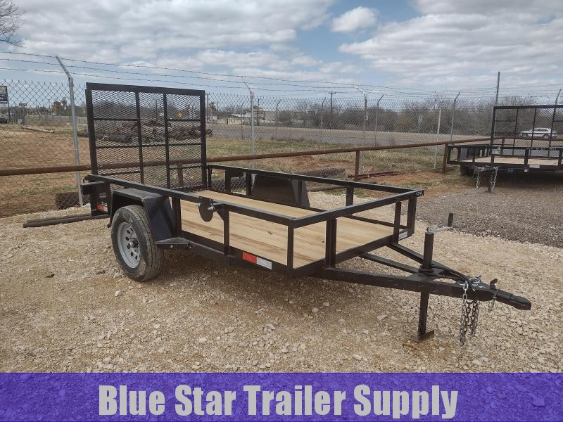 5 X 10 Single Axle Gated Utility Trailer