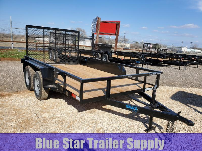 78 X 12 Tandem Axle Gated Utility Trailer