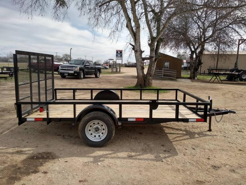 6 X 12 Single Axle Gated Utility Trailer