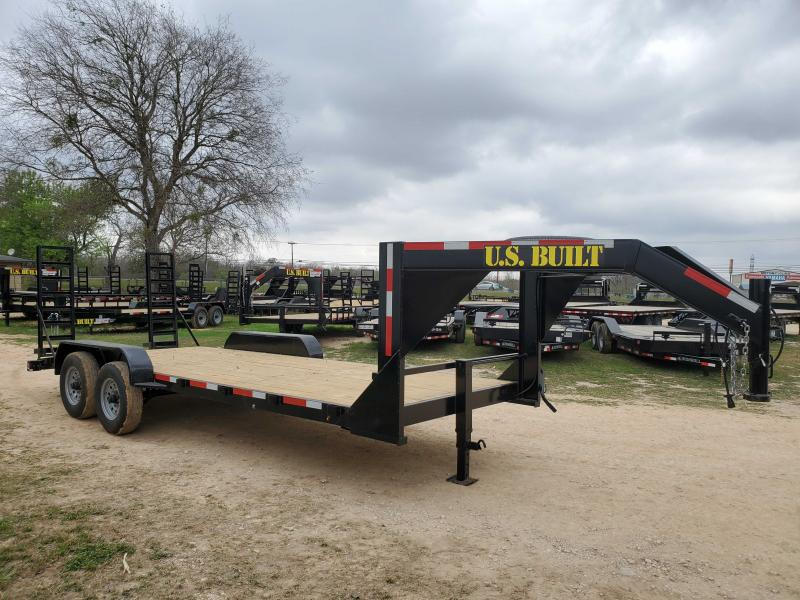 83 X 20 Gooseneck Lowboy Equipment Trailer - 14k GVWR