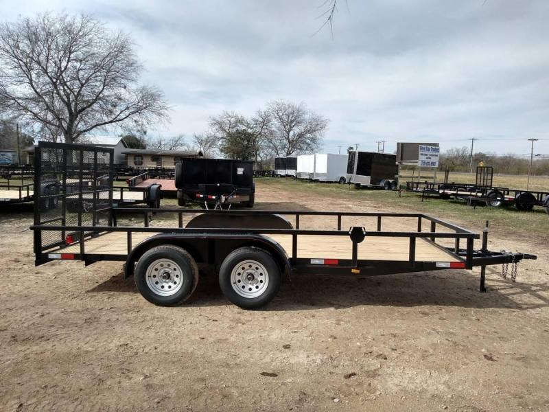 78 X 16 Tandem Axle Gated Utility Trailer