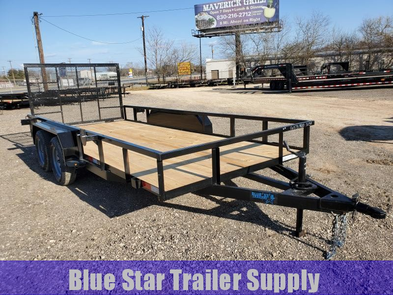 78 X 16 Tandem Axle Gated Utility Trailer With Electric Brakes