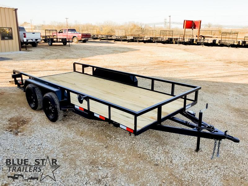 83 X 16 Tandem Axle Utility Trailer w/ Brakes & Ramps