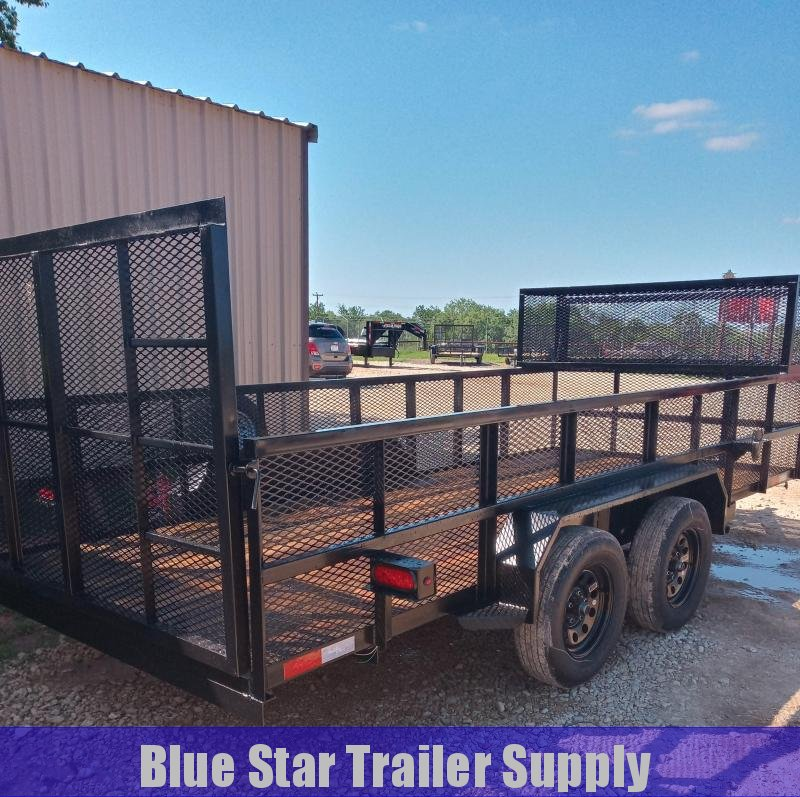 78 X 16 Tandem Axle Gated Landscape  Trailer
