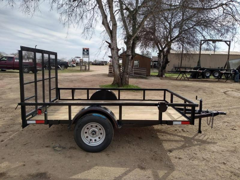 6 X 10 Single Axle Gated Utility Trailer