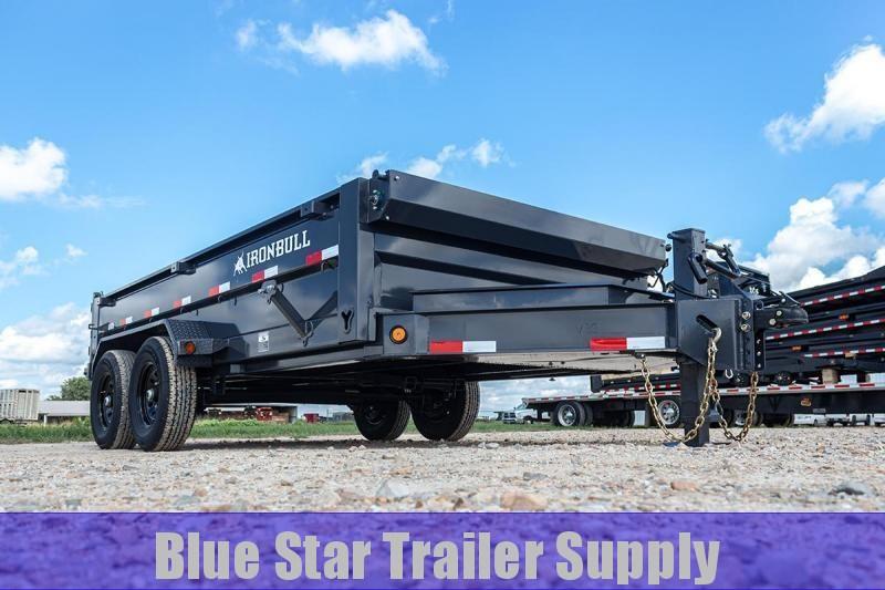 7 X 14 Bumper Pull Dump Trailer - Iron Bull DWB 14k