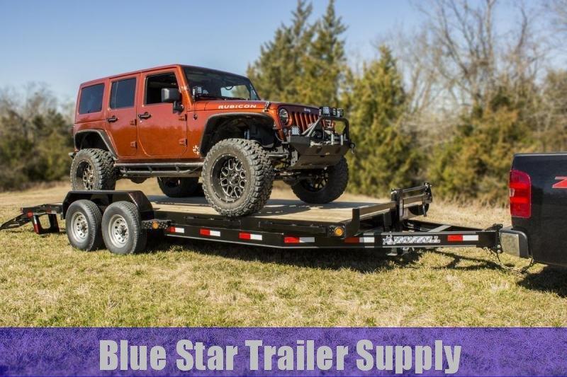 83X20 Bumper Pull Equipment Trailer w/ Slide-in-Ramps