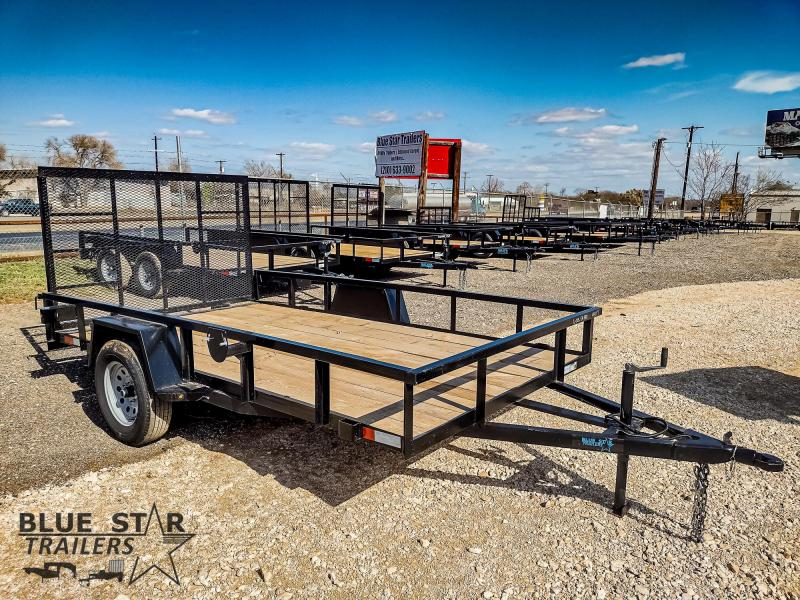 78 X 12 Single Axle Gated Utility Trailer