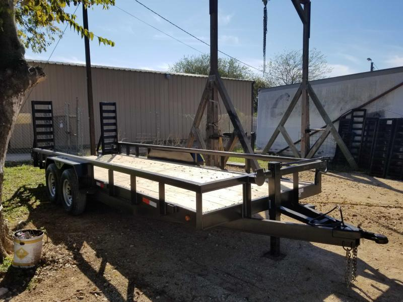83 X 20 Heavy Duty Utility Trailer w/ Slide-in Ramps