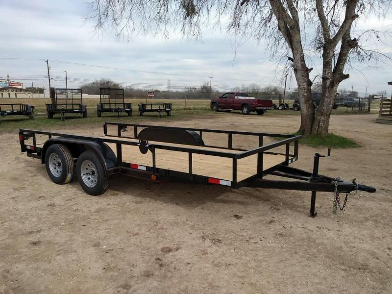 78 X 16 Tandem Axle Utility Trailer w/ Slide in Ramps