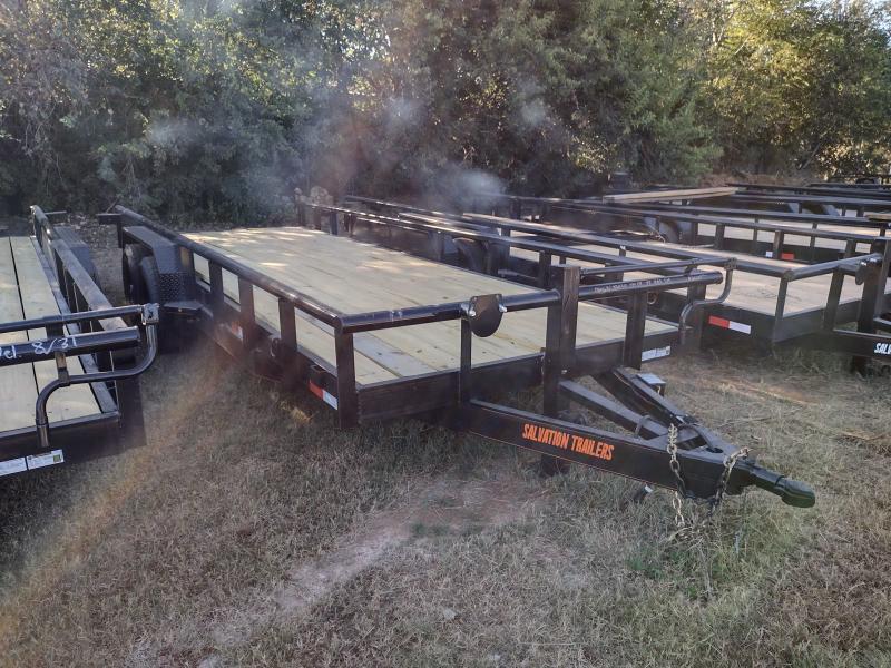 83 X 20 Heavy Duty Utility Trailer w/ Slide-in Ramps