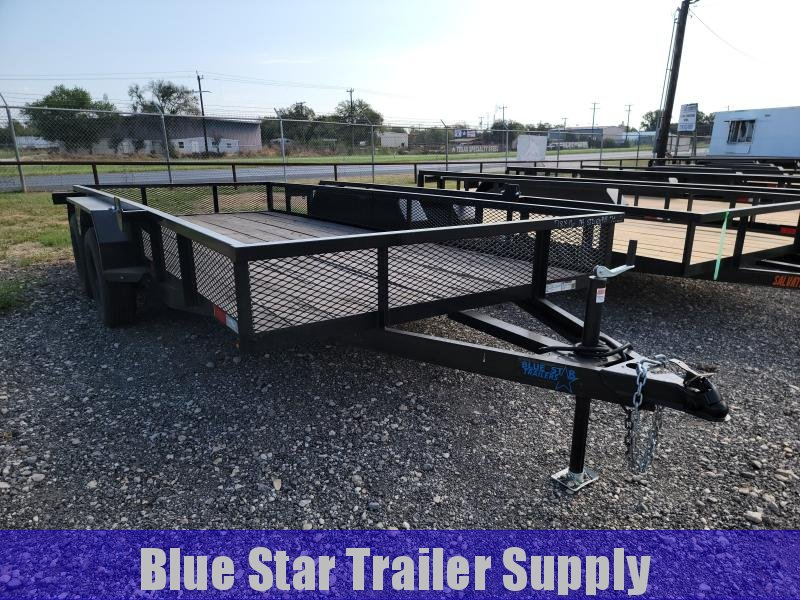 78 X 16 Utility Trailer w/ Exp. Metal Sides & Tailgate