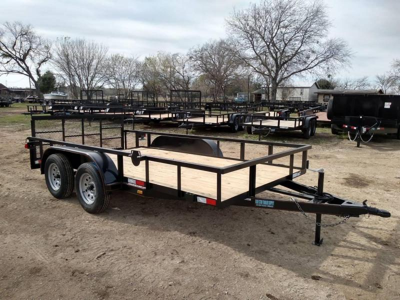 78 X 14 Tandem Axle Dovetail Gated Utility Trailer